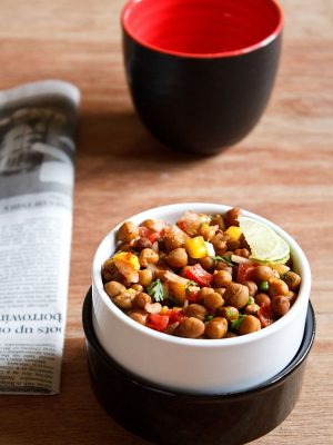 kala chana chaat, black chickpeas chaat