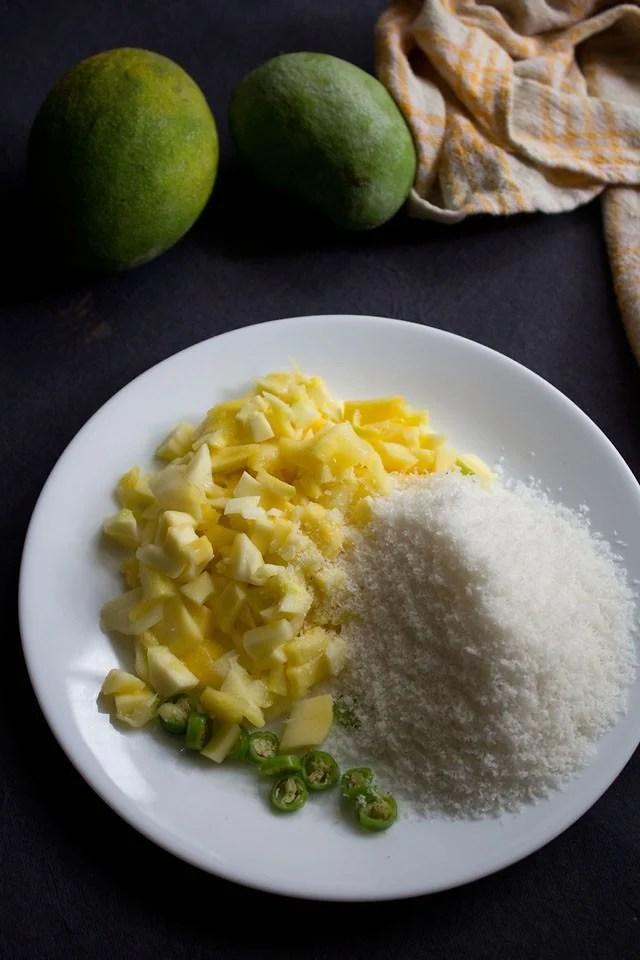 ingredients for mango chutney recipe