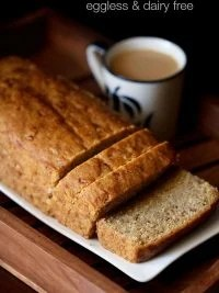 banana bread recipe | vegan and eggless banana bread