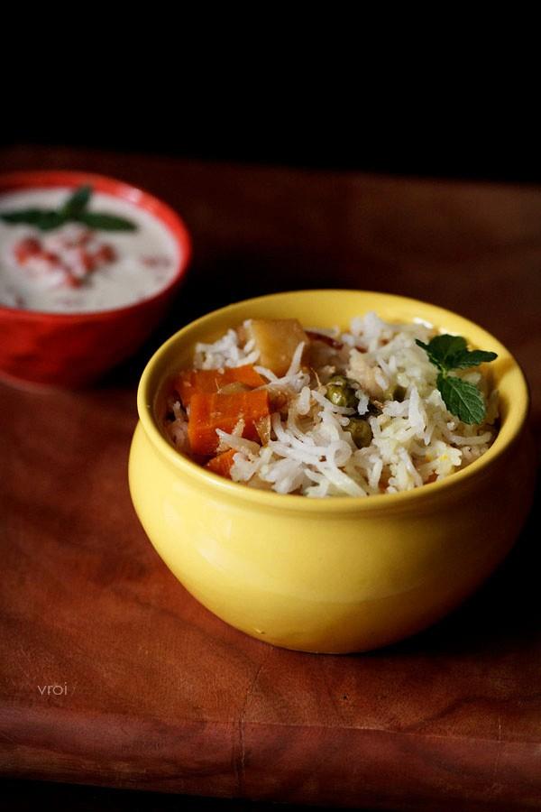 veg biryani recipe restaurant style, veg biryani recipe