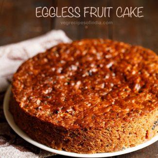 fruit cake   christmas cake (eggless)
