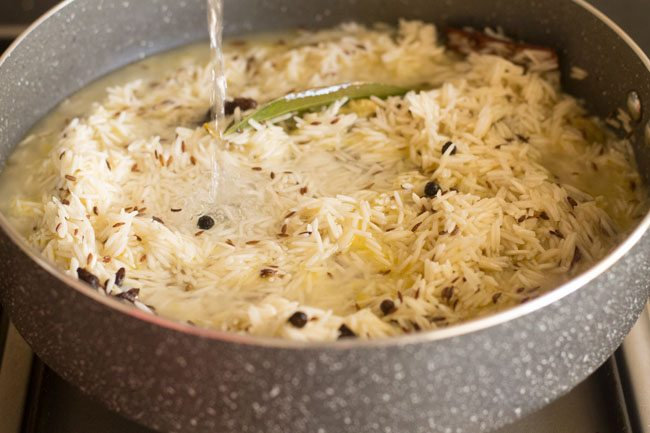 making easy jeera rice recipe