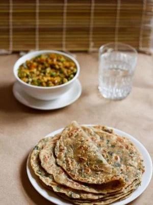 methi paratha, methi paratha recipe