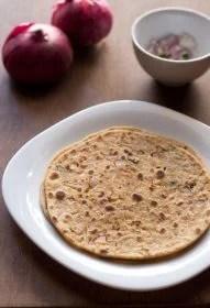 onion paratha, onion paratha recipe