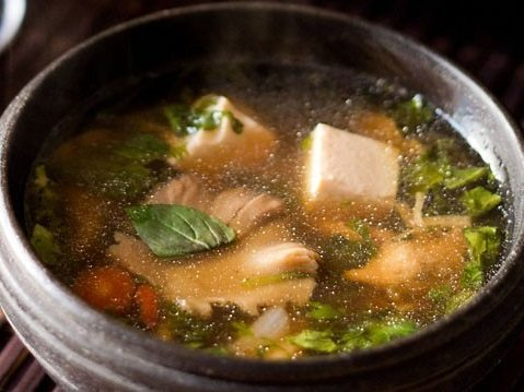 Thai veg tofu soup recipe