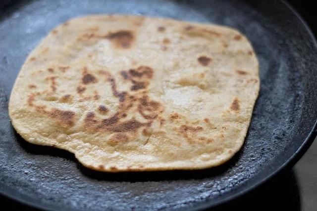 making ajwain paratha recipe