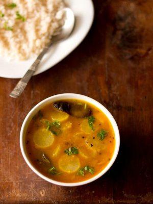 radish sambar, mullangi sambar