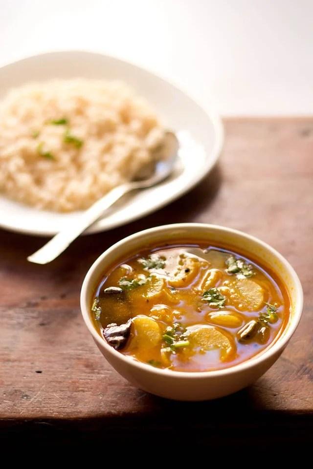 South Indian radish sambar recipe, mullangi sambar recipe