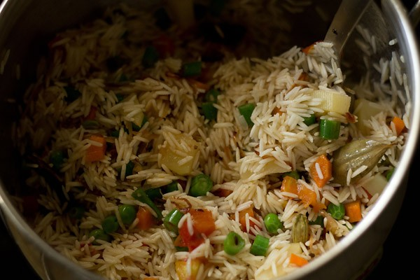 making veg pulao recipe, making pulao recipe, how to make pulao recipe