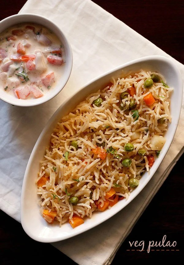 pulao recipe, veg pulao recipe, vegetable pulao recipe, veg pilaf