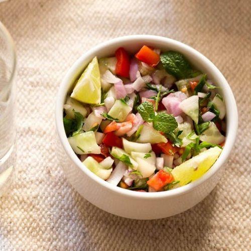 kachumber salad recipe, kuchumber salad recipe