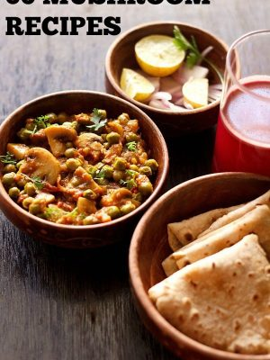 mushroom recipes, mushroom curry recipes, indian mushroom recipes
