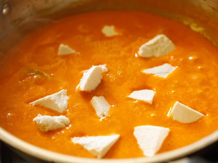 making paneer butter masala