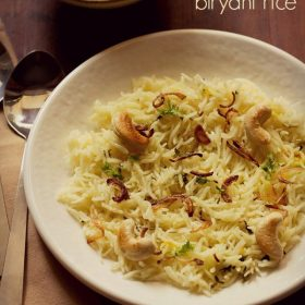 biryani rice recipe, biryani chawal recipe
