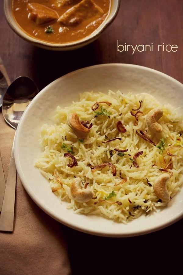 biryani rice recipe, biryani chawal recipe