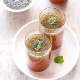 nimbu pani recipe with basil seeds