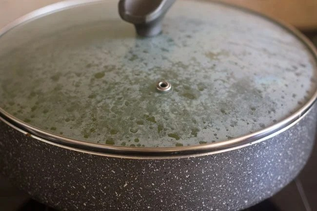 cooking palak biryani