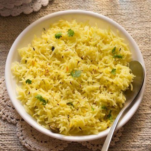 saffron rice recipe, kesar rice recipe