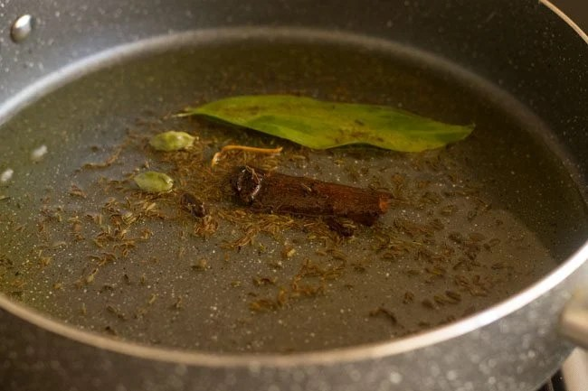 cooking spices in the pot
