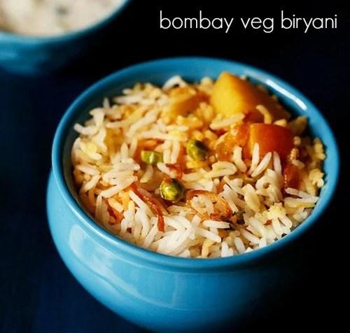 bombay vegetable biryani recipe