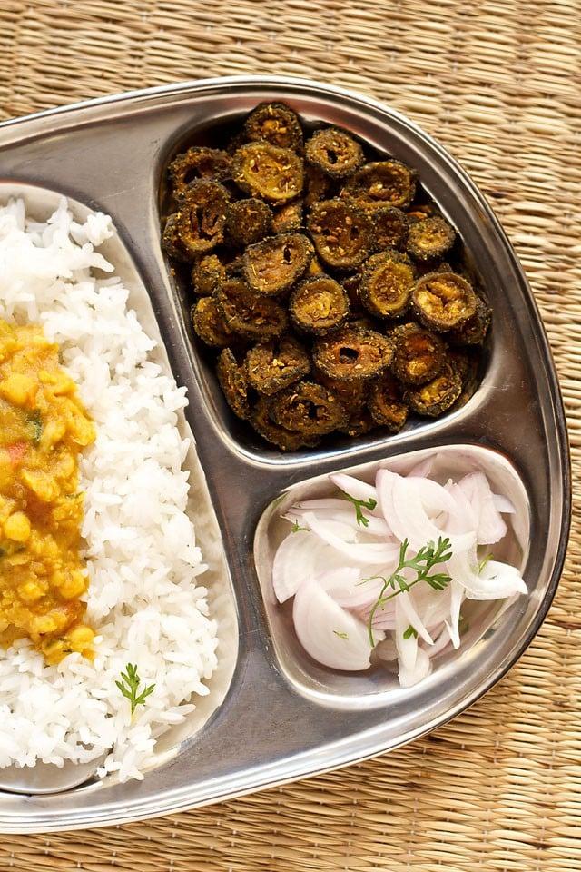 karela sabzi recipe, karela fry, bitter gourd fry, kakarakaya fry