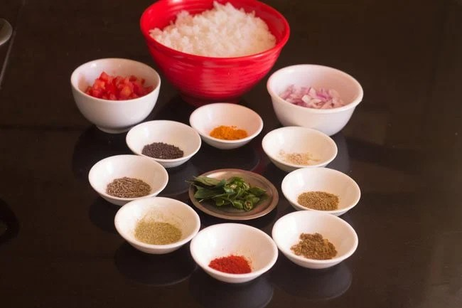 ingredients for masala rice
