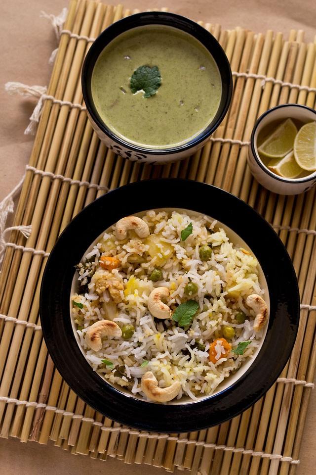 veg Kashmiri biryani recipe