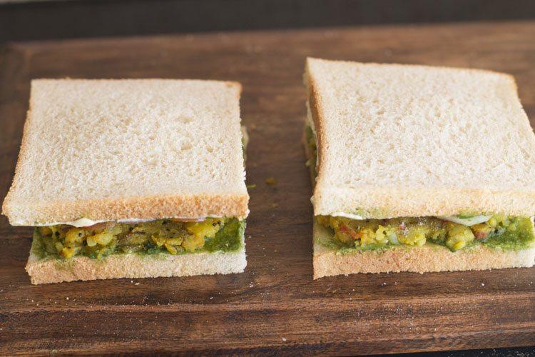 veg masala toast sandwich recipe