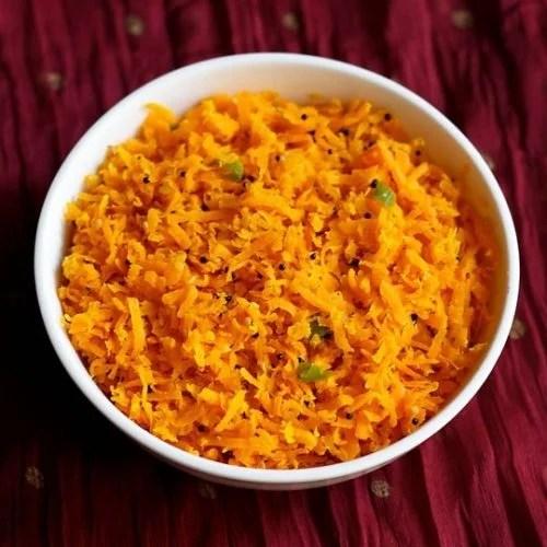 carrot sambharo recipe, gujarati carrot salad recipe, gajar ka salad recipe
