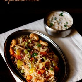 easy veg pulao recipe in pressure cooker