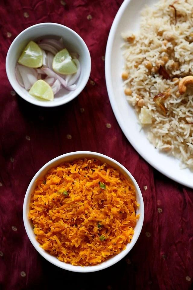 Gujarati carrot salad