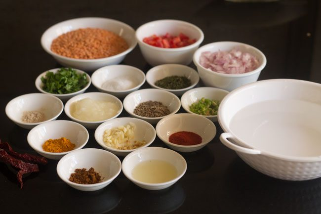 making masoor dal recipe