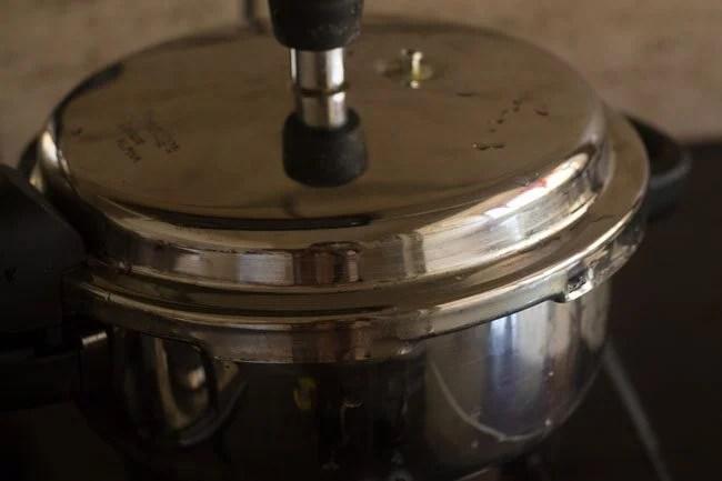 cooking masoor dal