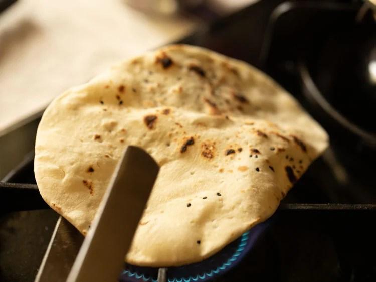 making naan bread
