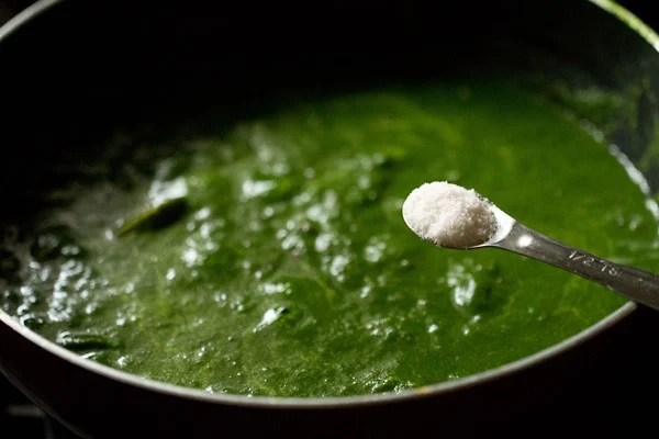 salt for palak mushroom recipe