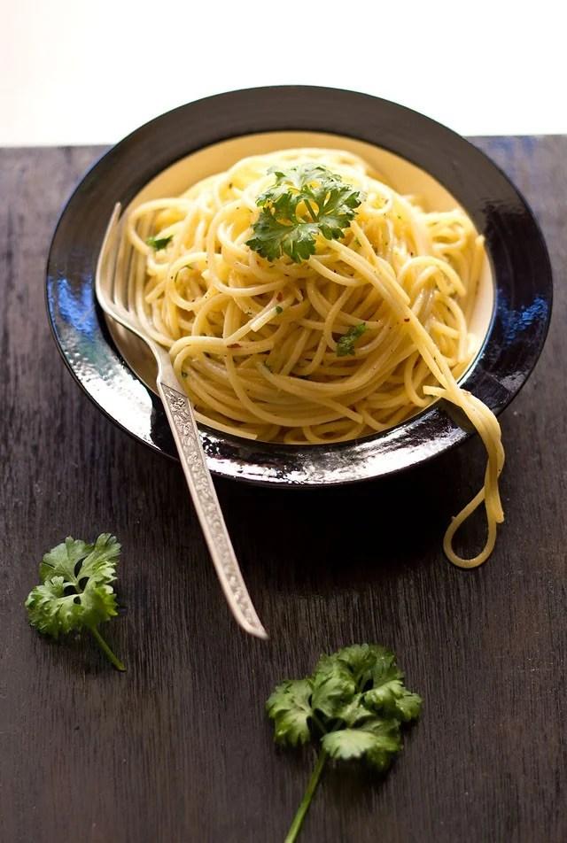 spaghetti olio e aglio