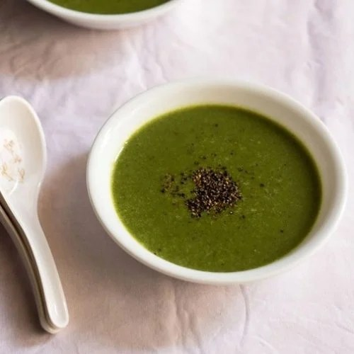 palak soup recipe, spinach soup recipe