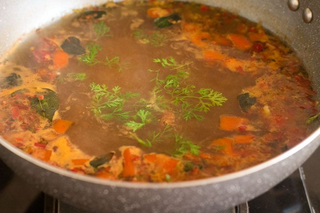 tamarind rasam recipe, puli rasam recipe