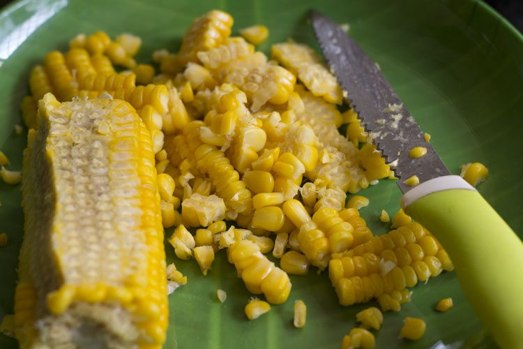 Remove the corn kernels