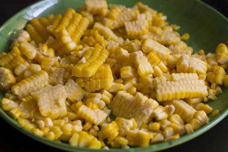 corn pakora or corn fritters recipe