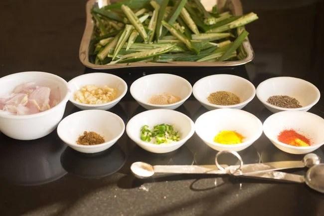 ingredients for lahsuni bhindi