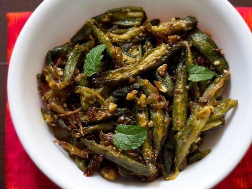 garlic bhindi recipe