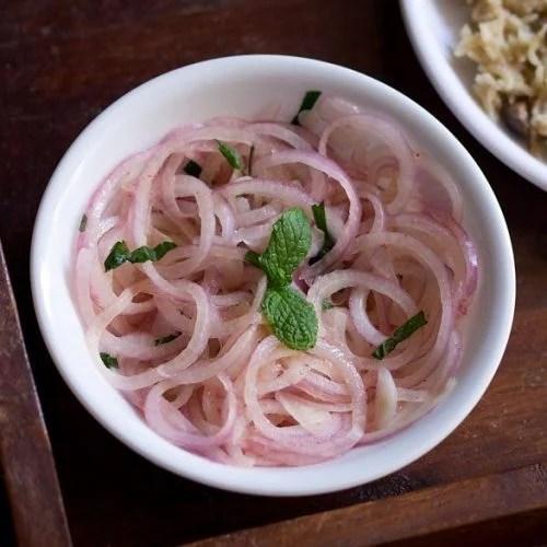 onion salad recipe, lachcha onion salad recipe