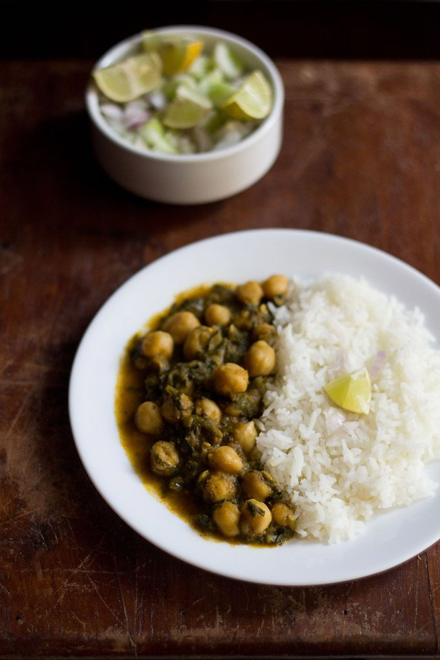 palak chole recipe
