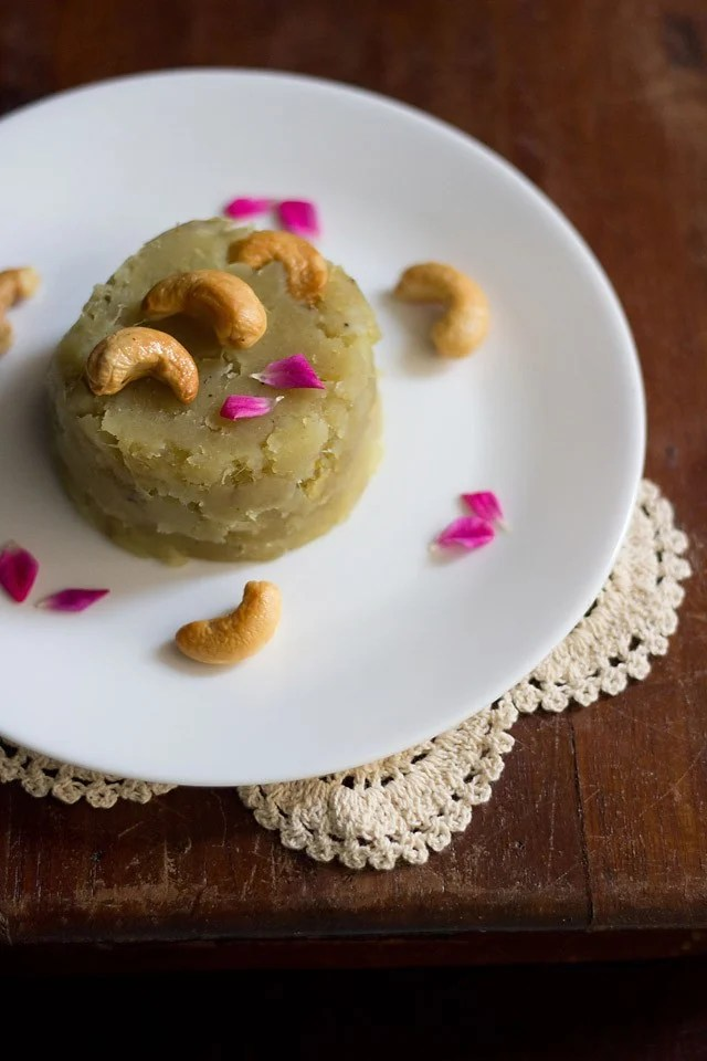 sweet potato halwa, shakarkhandi halwa