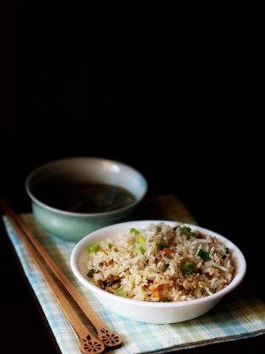 veg fried rice recipe, how to make fried rice | chinese fried rice