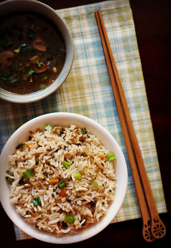 veg fried rice, fried rice, Chinese fried rice