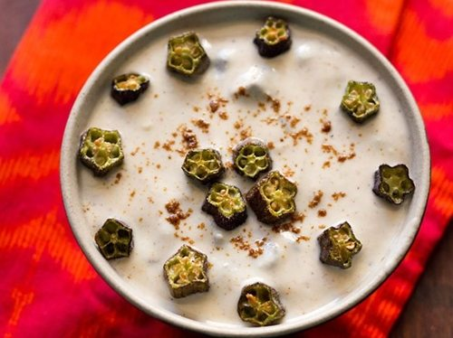 bhindi raita recipe