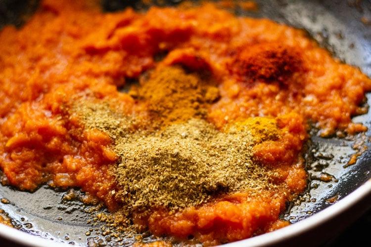 spice powders added