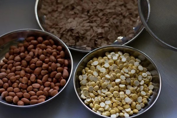 ingredients for thick poha chiwda recipe
